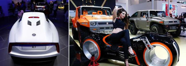 第十三届北京国际车展开幕 豪车亮相吸引眼球