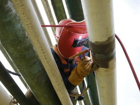 [圖]中石化巴陵石化原油管線隱患治理