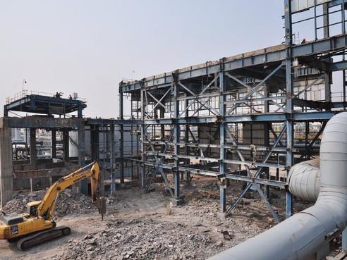 [图]齐鲁石化氯碱厂隔膜烧碱装置全部拆除完成