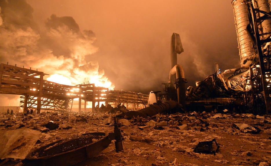 福建PX工厂再爆炸 现场狼藉