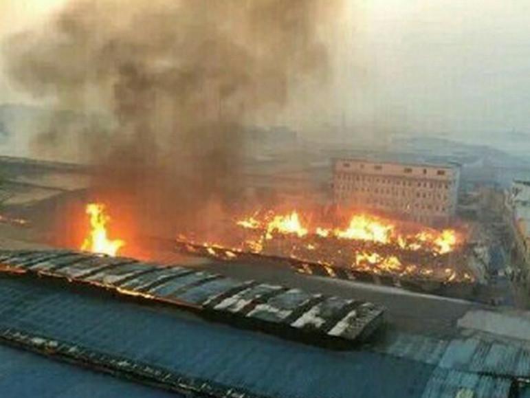 江西贛州一家具廠發生特大火災