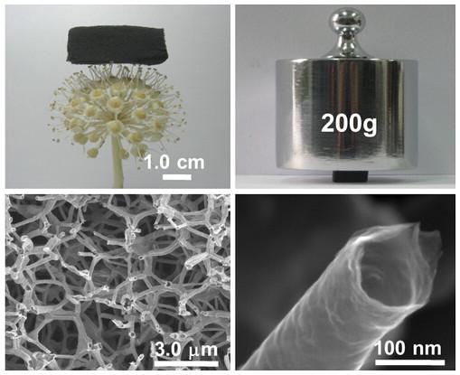 """[图]中国发现一种三维石墨烯管的""""超级材料"""""""