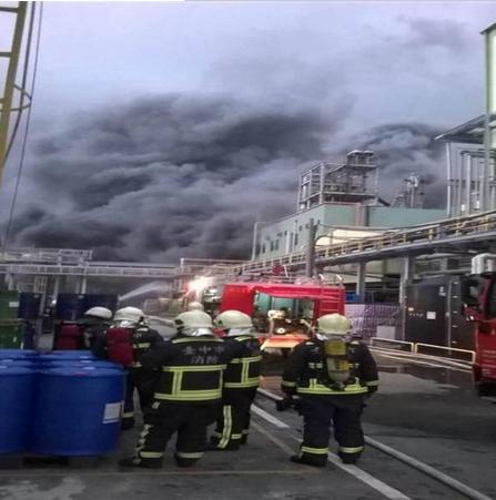 [图]台中兴农化工厂发生爆炸