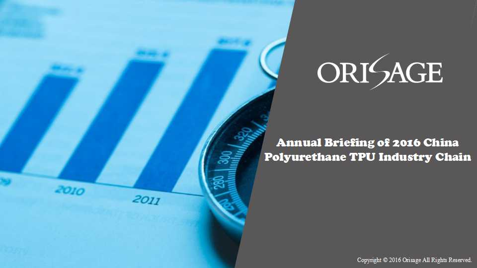 Annual Briefing of 2016 China Polyurethane TPU Industry Chain (Part II)