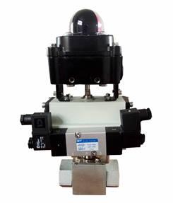 蓬莱吉腾DN25聚氨酯气动型高低压转换阀