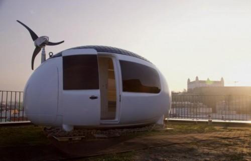 斯洛伐克公司打造蛋形小房子 不需要地基