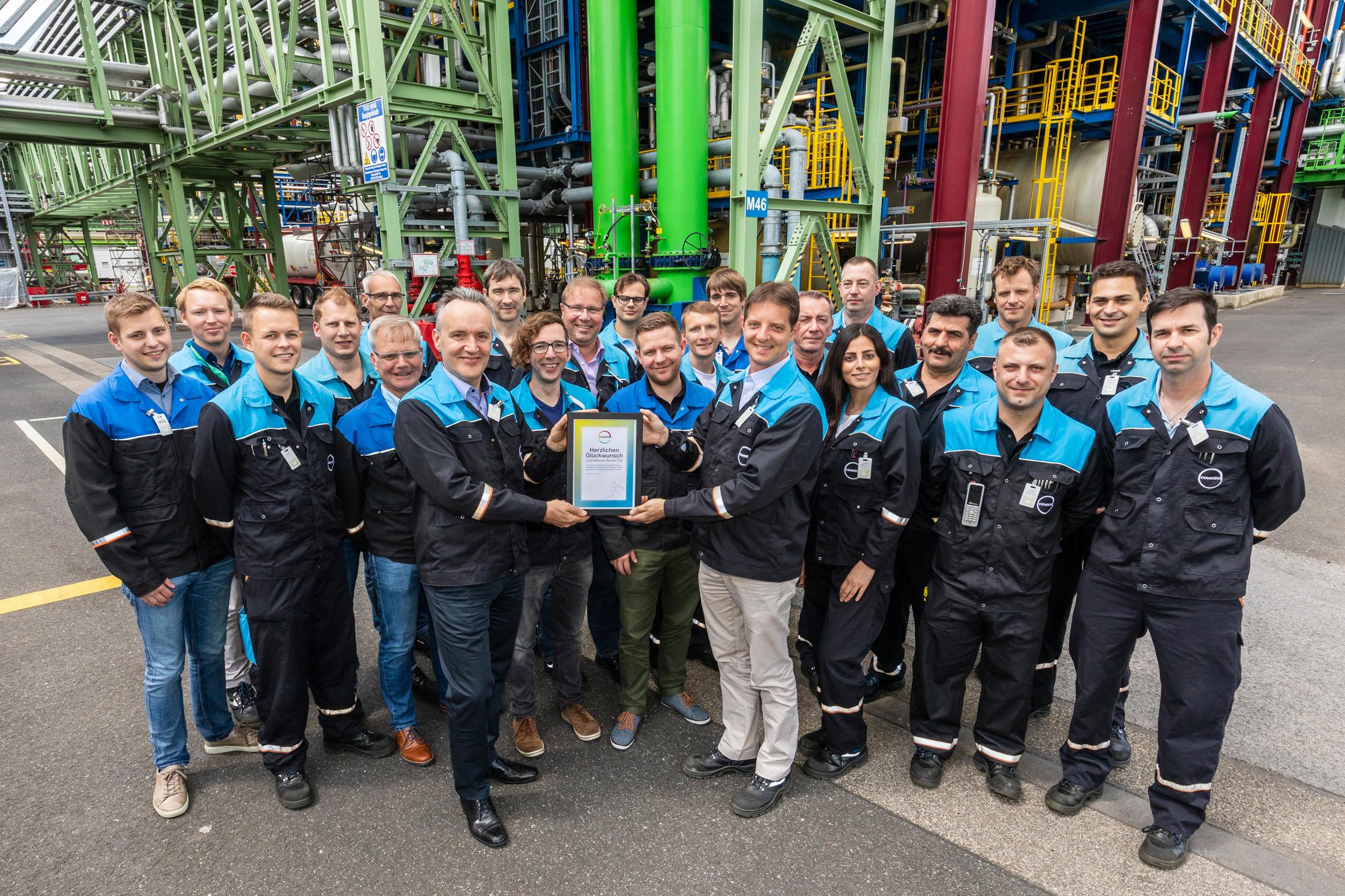 科思创庆祝多马根工厂TDI产量突破三百万吨